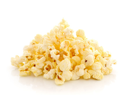 Pop Corn isolated on white background photo