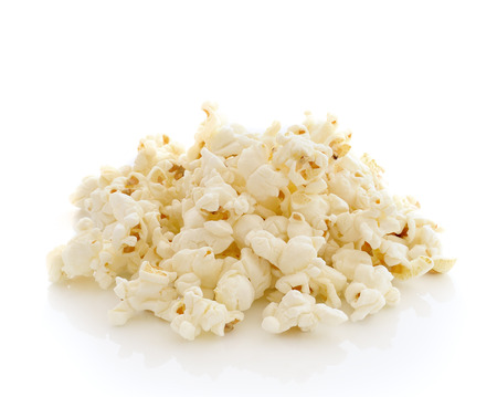 Pop Corn isolated on white background Stock Photo
