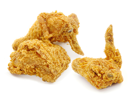 Golden brown fried chicken  photo