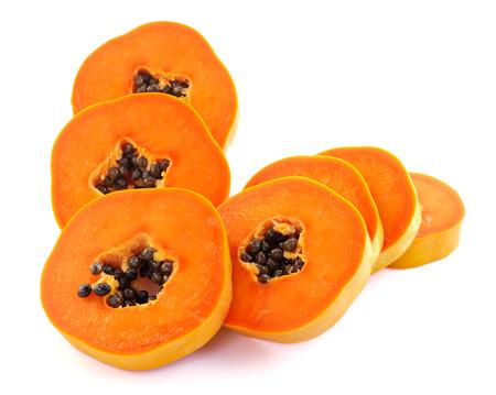 papaya on white background photo