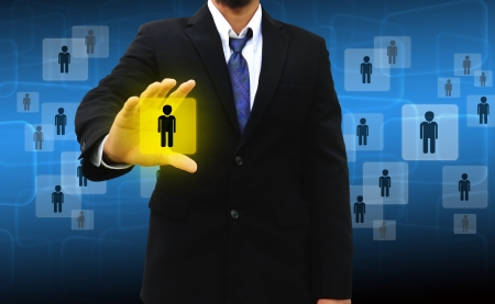 headhunting: Businessman Choosing the right person