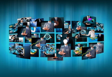 Television and internet production .technology and business concept photo