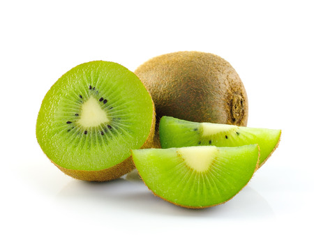 Juicy kiwi fruit isolated on white background photo