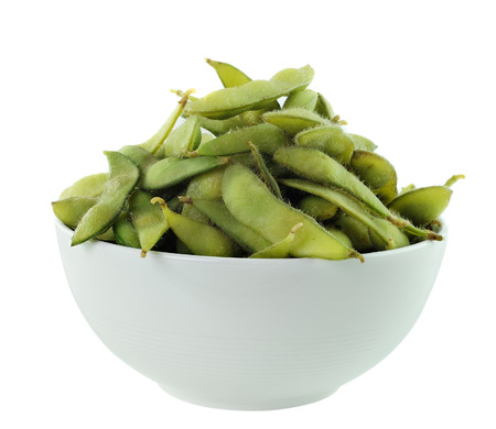 green beans in the bowl on white background Stock Photo - 23249871