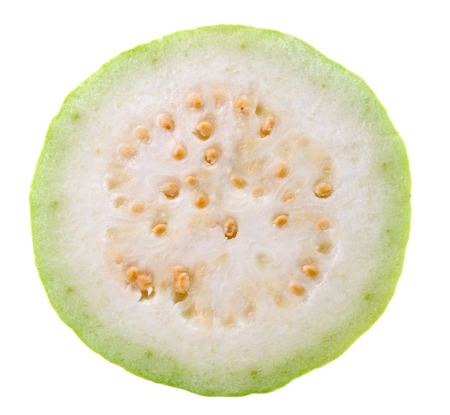 guava: Guava Slice (tropical fruit) on white background