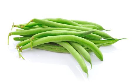 Fagiolini verdi su sfondo bianco Archivio Fotografico - 24926968
