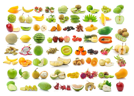 collection of Fruits isolated on white background photo