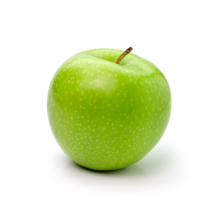 green apple: Green apple, isolated on white background Stock Photo