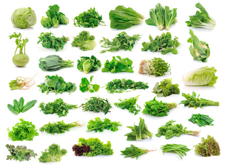 cos: Vegetables collection isolated on white background