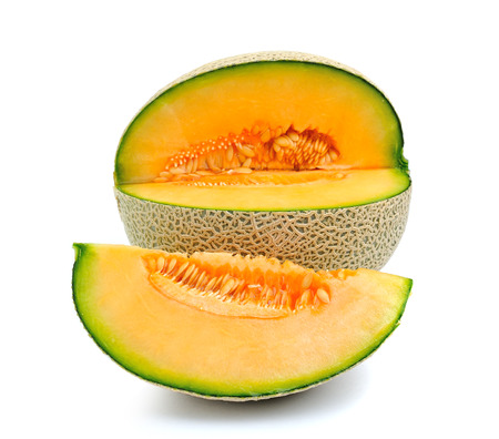 cantaloupe melon isolated on white background photo