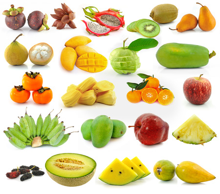 collection of fruit isolated on white background photo