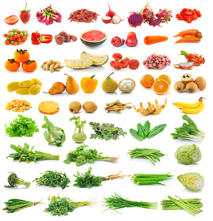 fruit and vegetable isolated on white background photo
