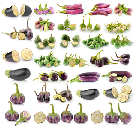 eggplant isolaed on white background photo