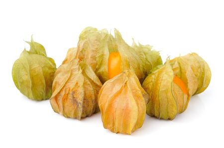cape gooseberry: Fresh physalis (cape gooseberry) isolated on white background