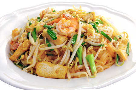 Thai style noodles , Pad thai  Stock Photo