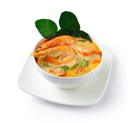 Tom Yam Kung soup (Thai cuisine) photo