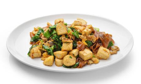 Stir Fried Rice Noodle with tofu photo