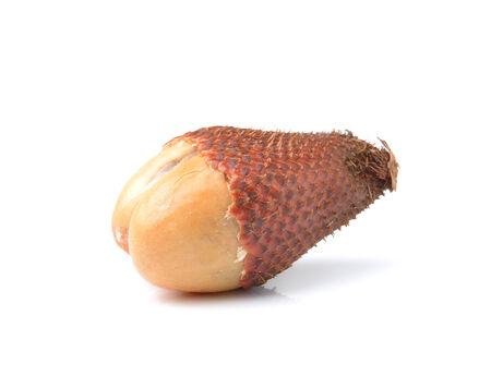 salak: Salak snake fruit isolated on white background Stock Photo