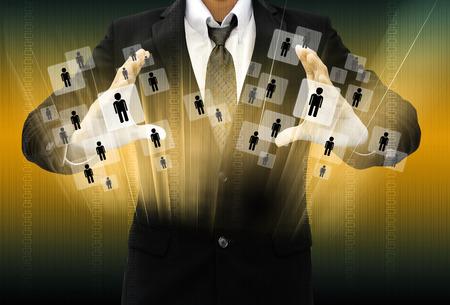 Empresario elección de la persona adecuada