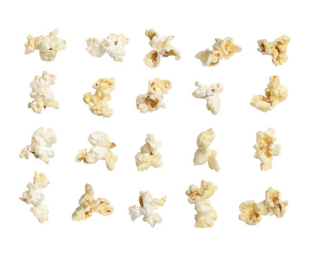 Pop corn collection isolated on white background photo