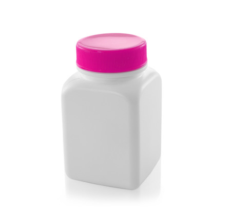 white bottles isolated on a white background photo
