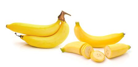 banana isolated on white background photo