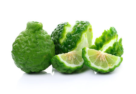 Bergamot fruit on white background photo