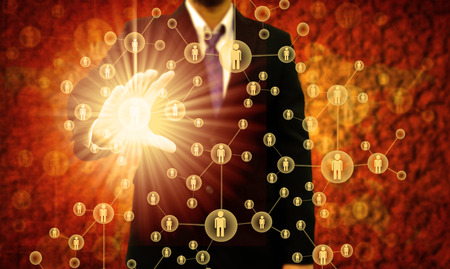 human resource management: Businessman Choosing the right person