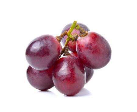 purple red grapes: grapes isolated on over white background