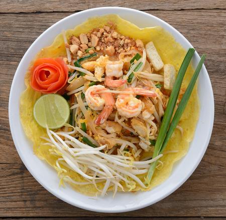 pad thai. Thai style noodles photo
