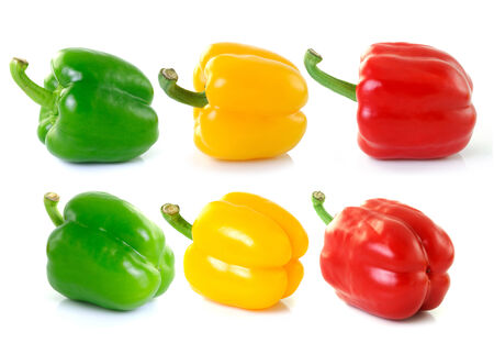 bell peper: pepper on white background, close up Stock Photo