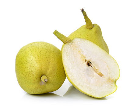 fragrant: Chinese fragrant pear on white background