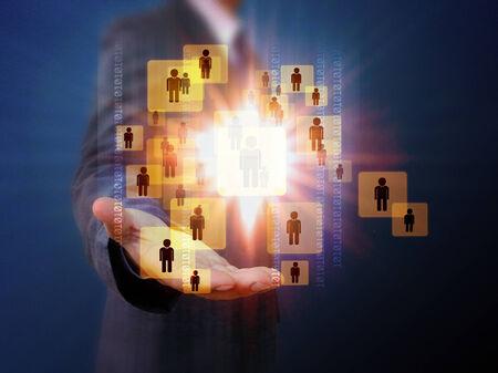 choosing: Businessman Choosing the right person