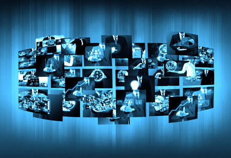television production: Television and internet production .technology and business concept