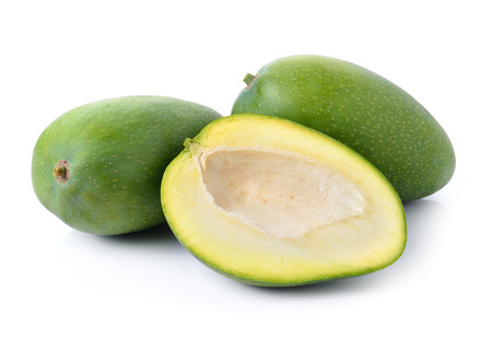 green mango: green mango on white background