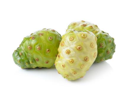 noni fruit: Fresh noni fruit on white background
