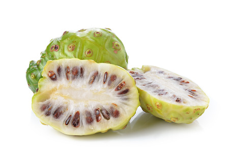 noni: Exotic Fruit - Noni on white background