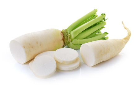 radish on white background 版權商用圖片