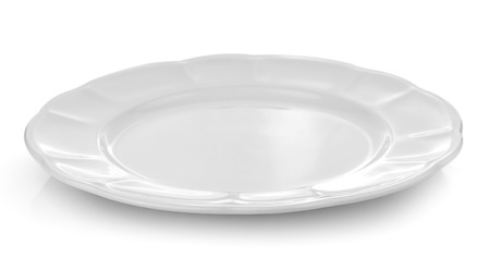 plate: white plate on a over white background