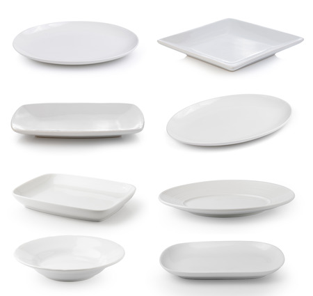 empty: white plate on a white background