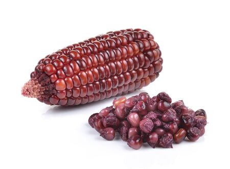 purple corn on a white background photo