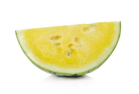 yellow watermelon isolated on white background photo