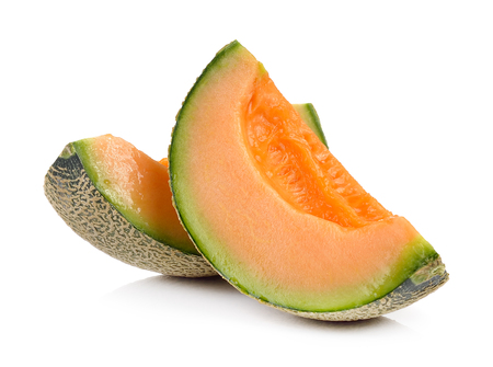 cantalupe melon on a white background photo