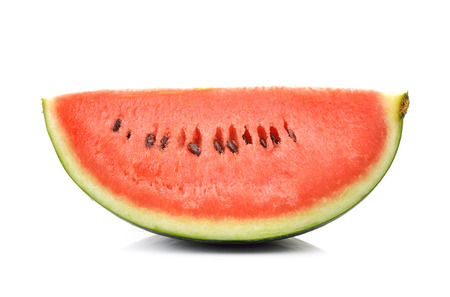 red watermelon isolated on white background photo