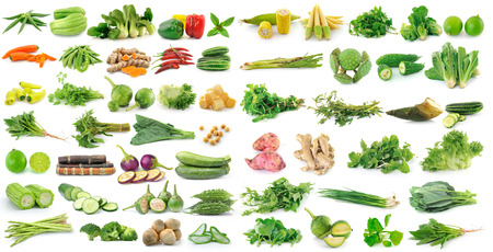 fresh vegetable on white background photo