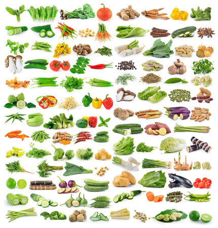 set of vegetable isolated on white background Banque d'images