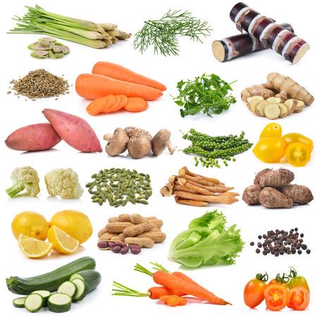 set of vegetable isolated on white background photo