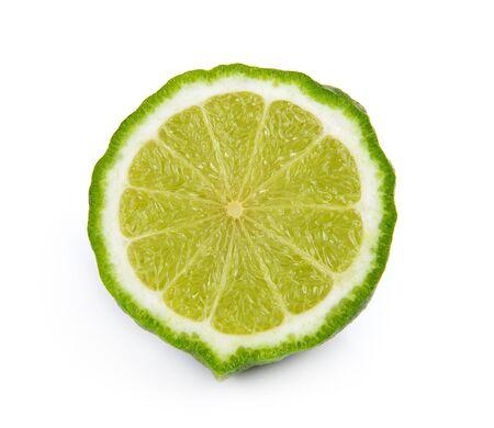 slice bergamot fruit on a white background photo