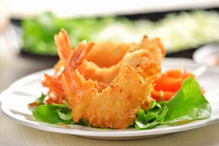 gamberi fritti: Fried Shrimp