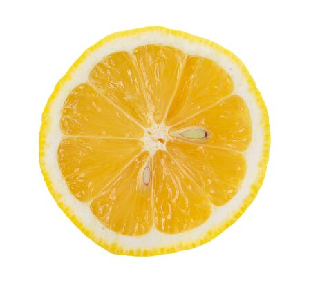 saved: lemon slice, saved with clipping path Stock Photo